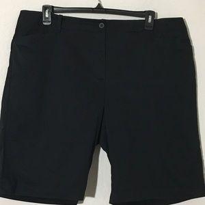 Talbots Shorts - Talbots Bermuda Shorts Cotton Blend Black Sz 20W